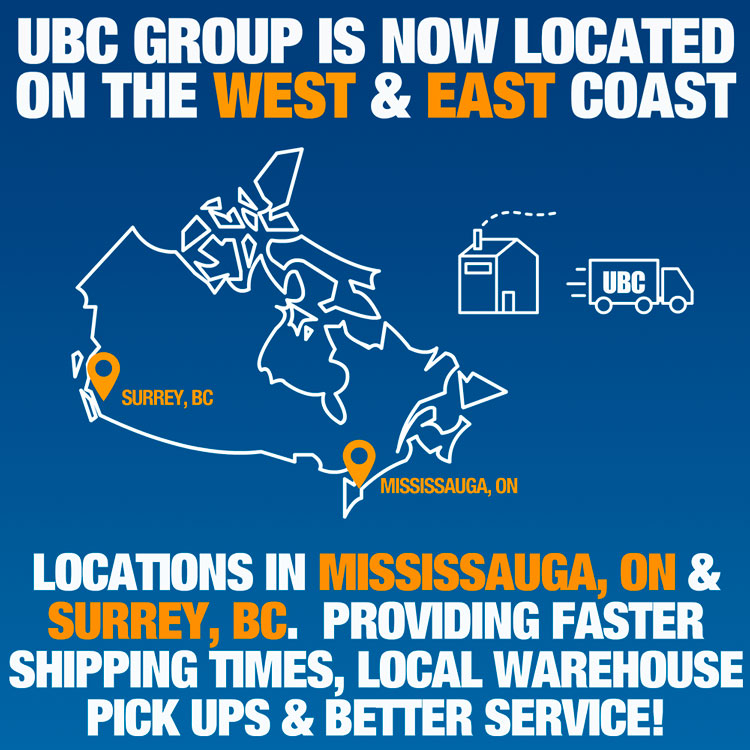 UBC Group is now located on the west & east coast
